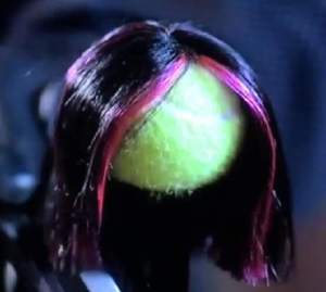 Tennis ball wearing a wig, Pretty Little Liars